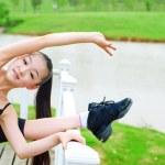 River dance girl practice — Stock Photo #20349247