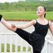 The basic practice dancing girl — Stock Photo