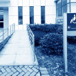 Stock Photo: Using wheelchair ramp
