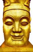 A golden face. — Stock Photo