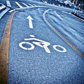 Bicycle path — Stock Photo
