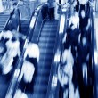Stock Photo: Moving escalator