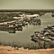 Fishing boat docked in the river — ストック写真