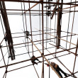 White background of the scaffolding — Stok fotoğraf