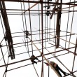 White background of the scaffolding — Foto de Stock