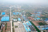 Bird's eye view of China Plain Zone — Foto de Stock