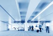 Shanghai Pudong Airport passengers — Stock Photo