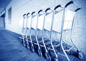Luggage carts airport — Stock Photo