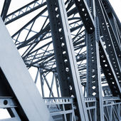 Bridge support beams — Stock Photo