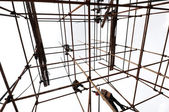 White background of the scaffolding — Stock Photo