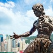 Bruce Lee statue - Stock Photo