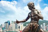 ブルース ・ リーの彫像 — ストック写真