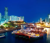 Harbour at night — Stock Photo