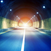 Tunnels and car — 图库照片
