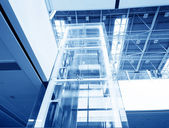 Modern glass elevator — Stock Photo