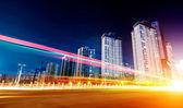 Senderos de luz — Foto de Stock