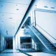Escalators and corridors — Foto Stock