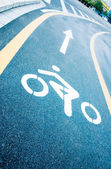 Bike lanes on the road — Stock Photo