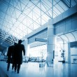 Passengers inside the airport — Stock Photo