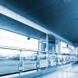 The corridors of the airport terminal — Stock Photo