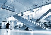 Passengers inside the airport — Stock Photo