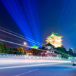 Night view of ancient Chinese architecture — Stock Photo #21269253