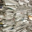 A pile of old newspapers — Stock Photo