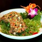Chinese food: pork chops — Stock Photo