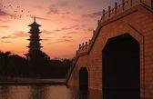Twilight of the pagoda — Stock Photo