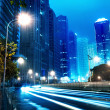 Now the city at night — Foto Stock