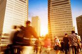 šanghaj ulice a pěší — Stock fotografie