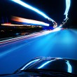 Night, high-speed car — Stock Photo #23286418