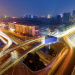 Modern urban viaduct at night — Stock Photo #23287182