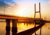 The bridge at dusk — Stock Photo