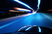 Night, high-speed car — Stock Photo