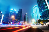 Now the city at night — 图库照片