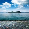 Platform beside sea — 图库照片