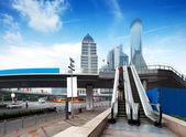 Scala mobile delle strade di shanghai — Foto Stock