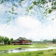 Stock Photo: Chinese ancient buildings of local
