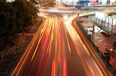 Highway light trails — Photo