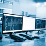Modern plant control room — Stock Photo