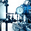 Pressure gauges and valves — стоковое фото #26573823