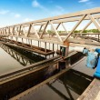 Stockfoto: Sewage treatment plant