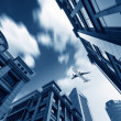Aircraft on the Shanghai sky — Stock Photo #26577165