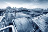 Rioolwaterzuiveringsinstallatie — Stockfoto