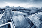 Sewage treatment plant — Fotografia Stock
