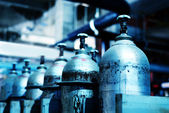 Botellas de oxígeno — Foto de Stock