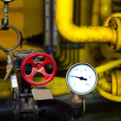 Pressure gauges and valves — ストック写真