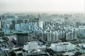 Aerial view of the big city — Stock Photo