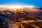 Railway transport hub — Stock Photo